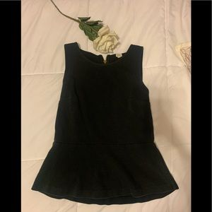 JCrew black peplum top